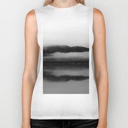 Black and White Alaska Photography, Enchanted Isle Biker Tank