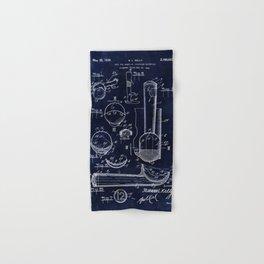 Ice Cream Scoop Blueprint Hand & Bath Towel