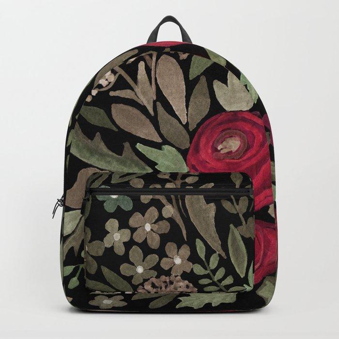 Watercolor . Night garden . Backpack