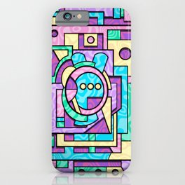 Rabbot Hutch - Brightly Colored Geometric Abstract iPhone Case