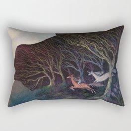 Adventures in the Dark Woods Rectangular Pillow