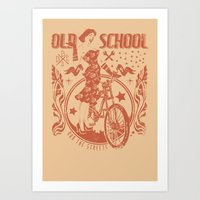 old school Art Prints featuring Old school by Tshirt-Factory