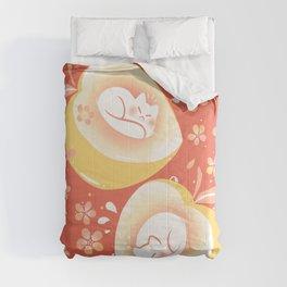 Peach Kitten Comforters