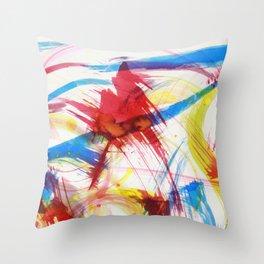 Dancing colors 1 Throw Pillow