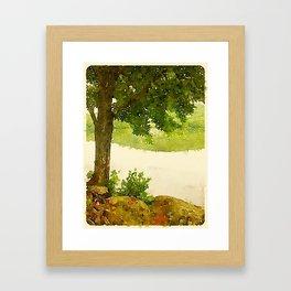 Camp Fairhaven, Maine Framed Art Print