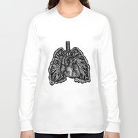 lungs Long Sleeve T-shirts featuring LUNGS by Fanny Andy