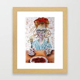 Spaghetti Girl Framed Art Print