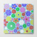 Colourful Colorful Flowers Pattern by printpix