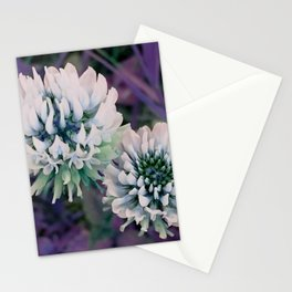 Purple clover Stationery Cards