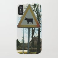 cows iPhone & iPod Cases featuring Attention cows by Falko Follert Art-FF77
