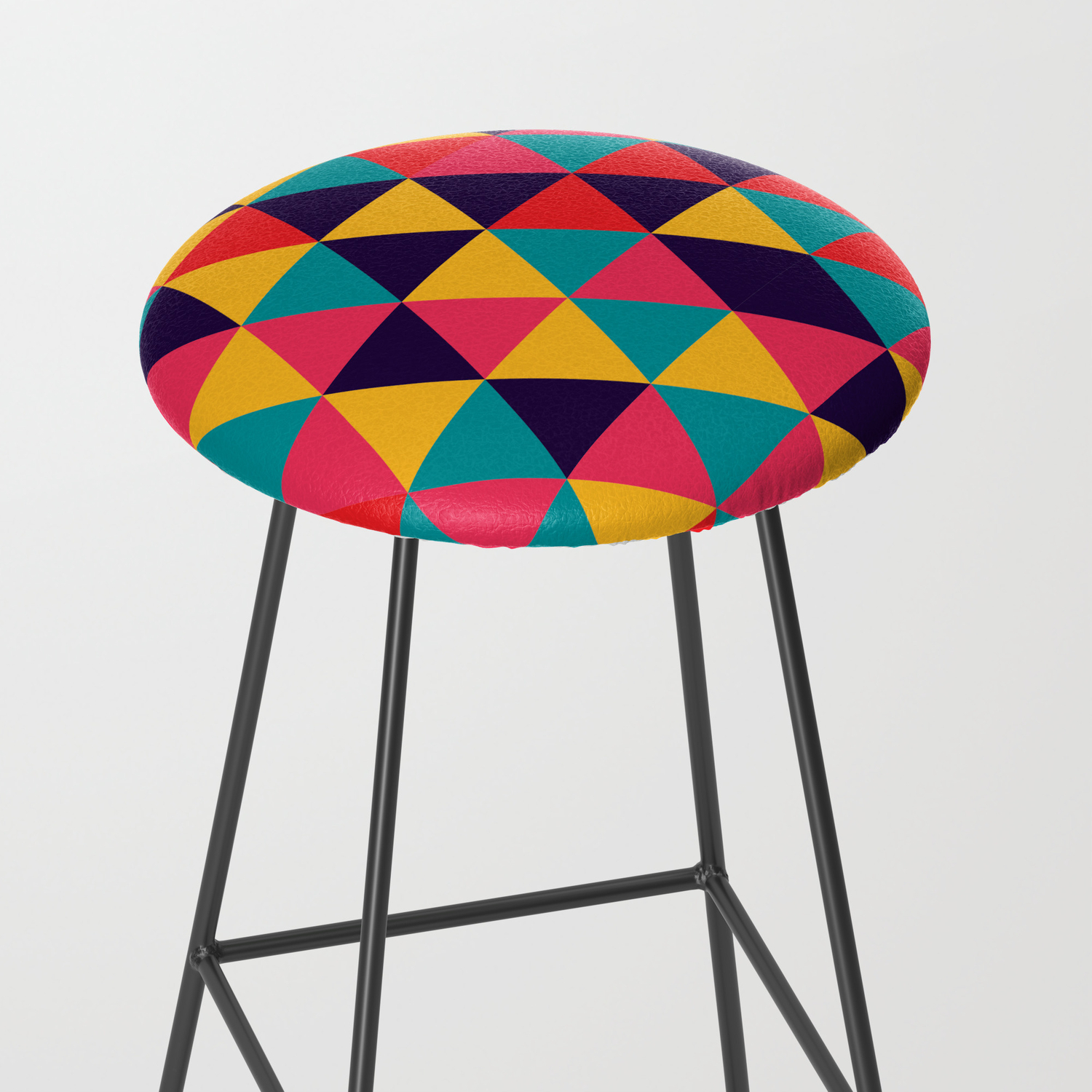 Colorful Triangles Bright Colors Bar Stool By Colorbucket Society6