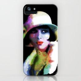 Girl's Twenties Vintage Glamour Art Portrait iPhone Case