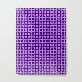 Lavender Violet and Indigo Violet Checkerboard Metal Print