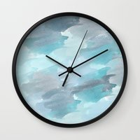 waterfall Wall Clocks featuring Waterfall by Zen and Chic