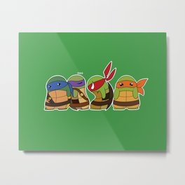 Jellybean Turtles  Metal Print