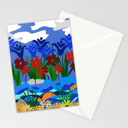 Flowers & Stream Stationery Cards