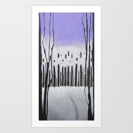 Trees/sky Art Print