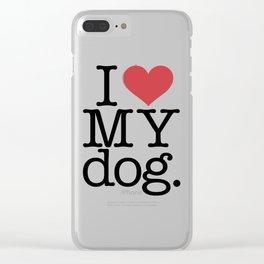 I love my dog Clear iPhone Case