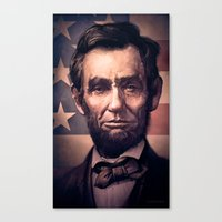 lincoln Canvas Prints featuring Lincoln by Dominick Saponaro
