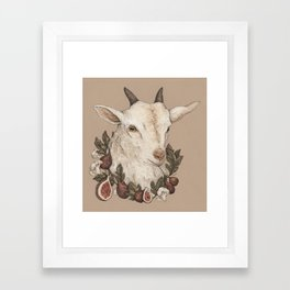 Goat and Figs Framed Art Print