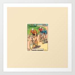 Cyclisme Cyclists Vintage Graphic Cycling Art Print