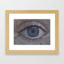 Eye 1# Rose Framed Art Print