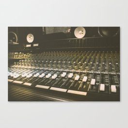 Studio Mixing Board Canvas Print