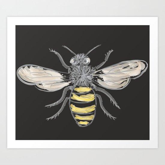 Beneficial Bumblebees Art Print
