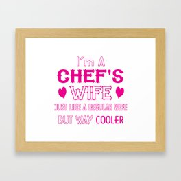 Chef's Wife Framed Art Print