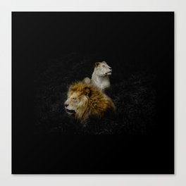 Pride - Lioness and Lion Couple Goals Canvas Print