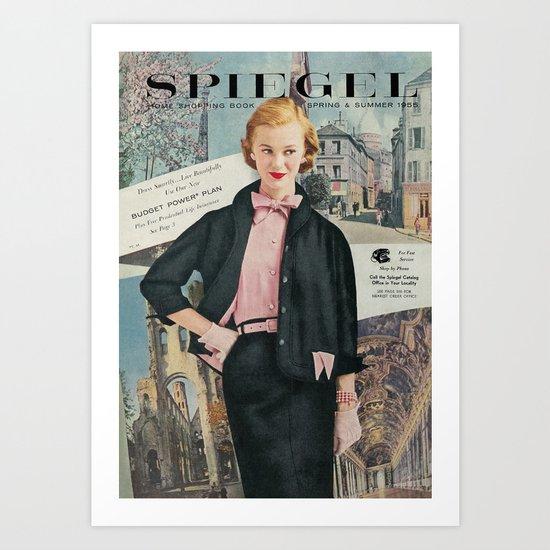 1955 Spring/Summer Catalog Cover Art Print