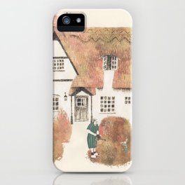 The gherkin lady and her garden iPhone Case