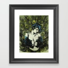 Black Pea Framed Art Print