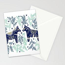 Swedish Dala Horse – Navy & Mint Palette Stationery Cards