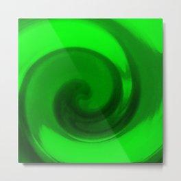 Green tie dye Metal Print