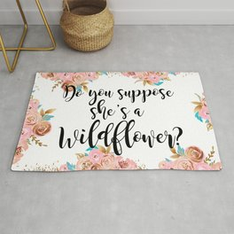 Blush and gold wildflower Rug