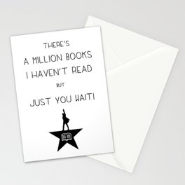 """""""There's a million books I haven't read, but just you wait!"""" Stationery Cards"""