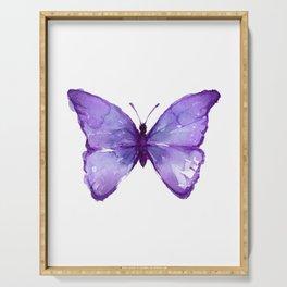Purple Butterfly Serving Tray