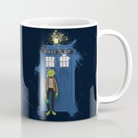 kermit Mugs featuring Doctor Who Kermit by Roe Mesquita