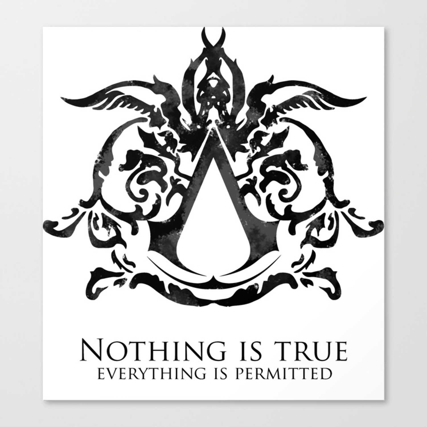 Assassin S Creed Nothing Is True Canvas Print By Outbreak Society6