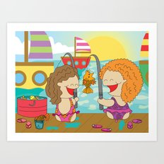 Fishing Weekend! Art Print