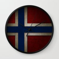 norway Wall Clocks featuring Norway by The Traveller, Wanderlust and Me