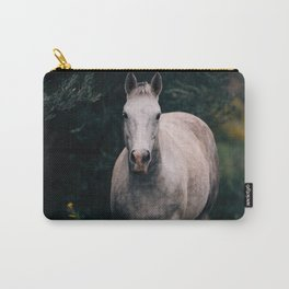 Wild White Horse Carry-All Pouch