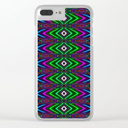 Colorful New Years Clear iPhone Case