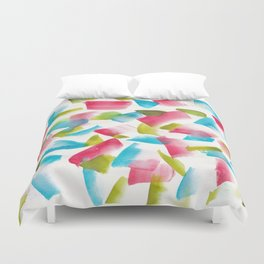 180719 Koh-I-Noor Watercolour Abstract 17  Watercolor Brush Strokes Duvet Cover
