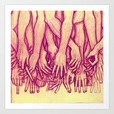 Storms (Yella) Art Print
