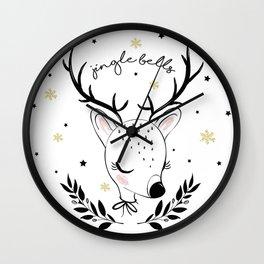 Cute doe christmas design. Wall Clock