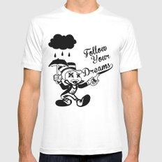 Jiminy  MEDIUM White Mens Fitted Tee
