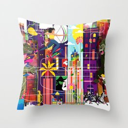 East to East Throw Pillow