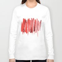 the strokes Long Sleeve T-shirts featuring Red Strokes by Social Proper